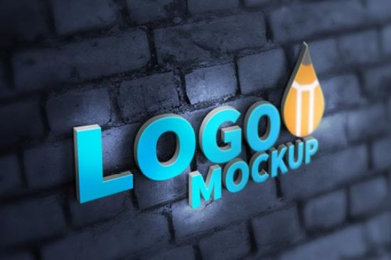 25+ Best 3D Logo Mockup Adobe PSD & Vectors 7