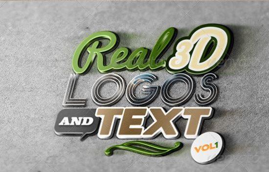25+ Best 3D Logo Mockup Adobe PSD & Vectors 4