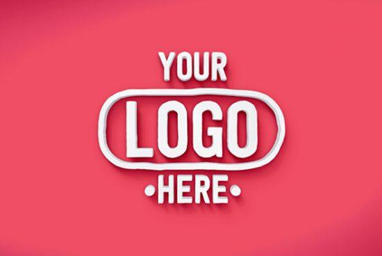 25+ Best 3D Logo Mockup Adobe PSD & Vectors 13
