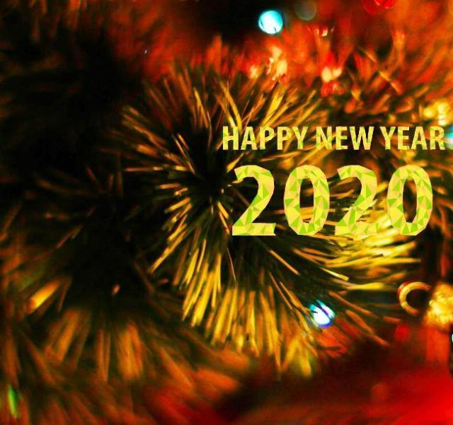 Images of the status of the New Year 2021