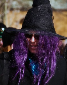 Purple hair and. .. obligatory hat