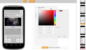 Interface de personnalisation d'un parcours sur Smartphones