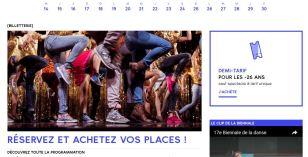 Capture d'écran du site web
