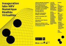 plaquette d'invitation à l'inauguration du labo NRV