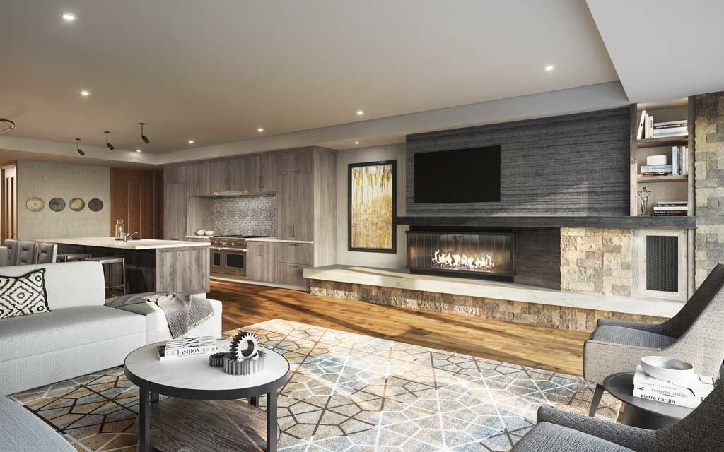 The Snow Park Residences at The St. Regis Deer Valley - Parlor Rendering