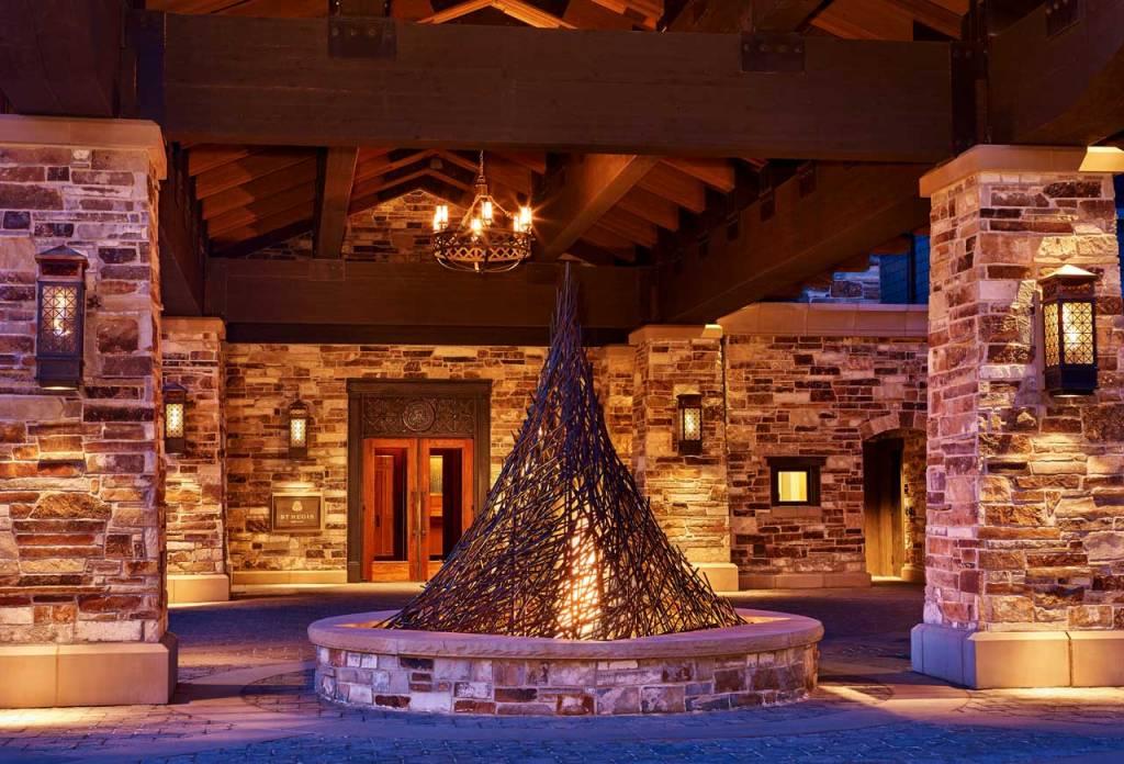 The St. Regis Deer Valley Lower Resort Porte Cochere