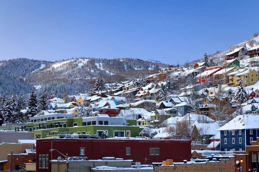 Park City, Utah homes in winter