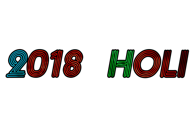 Holi Text Png 2018 New