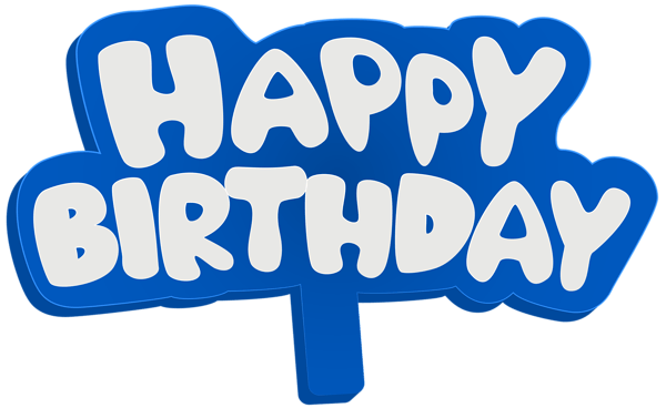 Happy Birthday Text Png