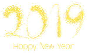 Happy New Year text png