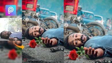 Photo of Bike Accident Photo Editing Tutorial in Picsart | Sad Breakup Creative Photo Editing by UCREATIONZ