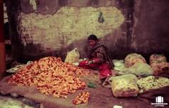 Flower seller at Ranbireshwar Temple