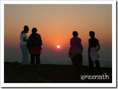 Sunrise at Kodachadri Top