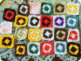 stash-buster challenge granny squares