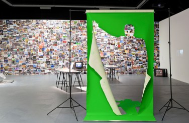 Green Screen in Common Spaces at The Kitchen, New York, 2014