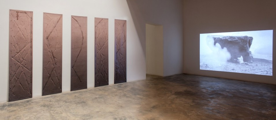Plot (Installation view at GALLERYSKE)UV ink on vinyl47.5cms x 205cms each2013