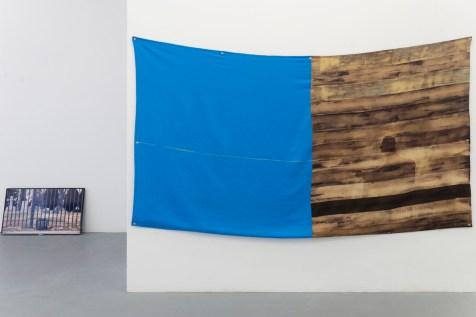 Not Here, Bleached Linen 122 X 244cm © Sreshta Rit Premnath, 2019