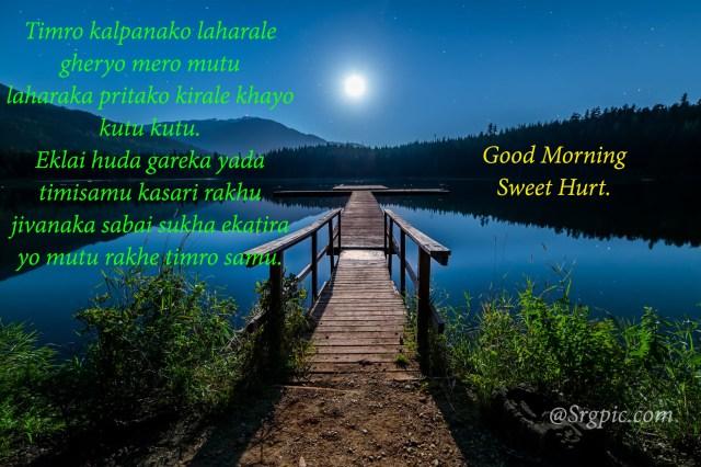 Good morning image in nepali