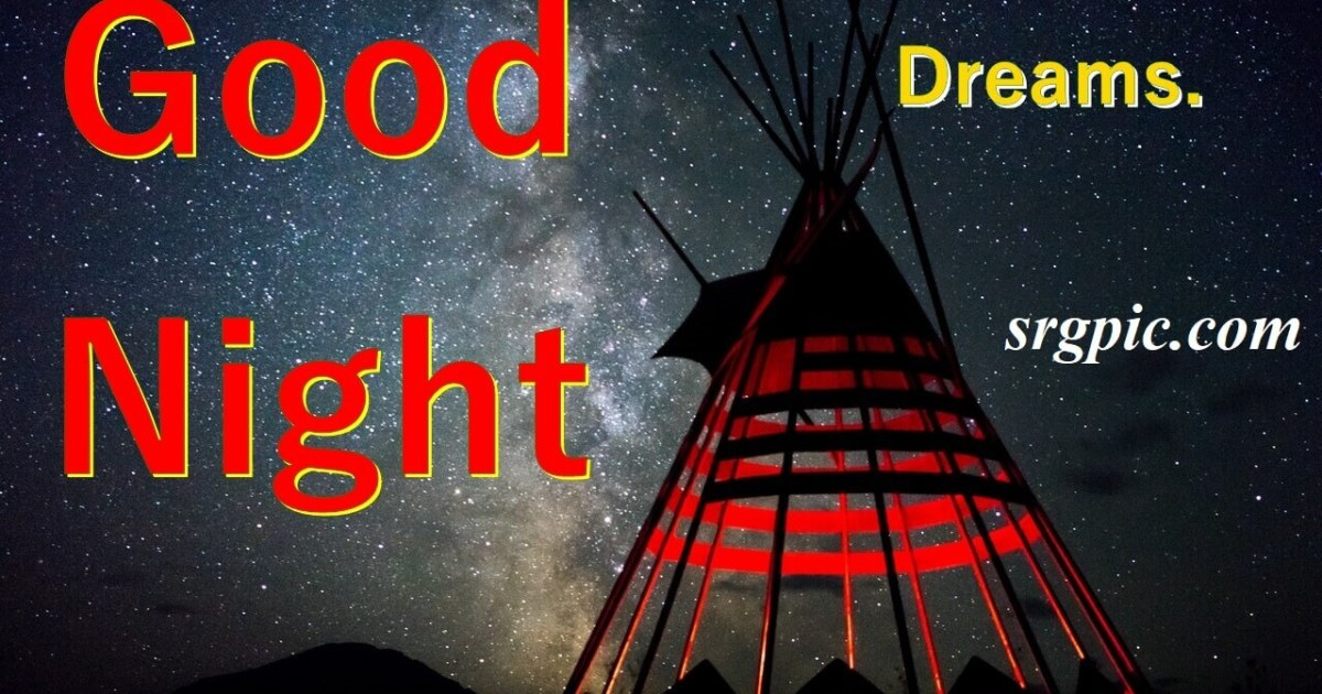 red-and-black-indian-hut-under-star-sky-night-image