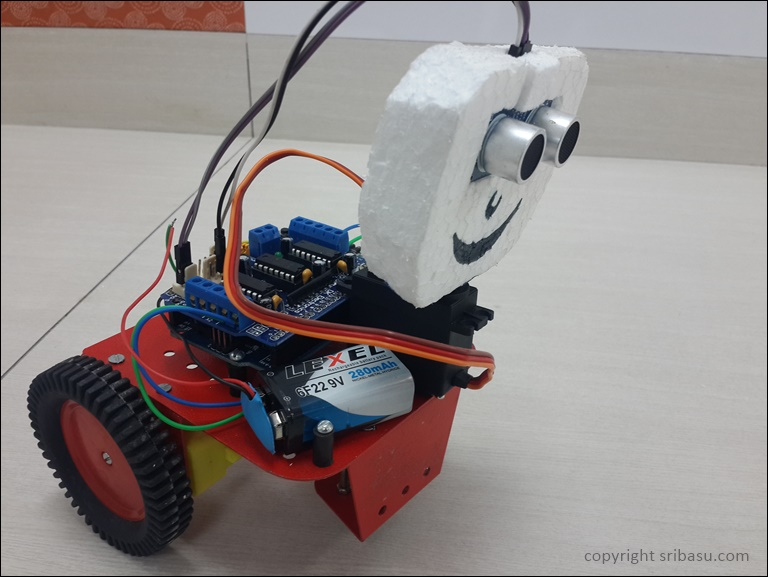 Creating an Obstacle avoiding Robot with Arduino, Adafruit