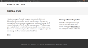 How to show Page/Post title in Site Tagline Left area of Minimum Pro