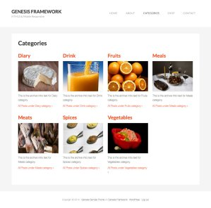 Category images Grid Template in Genesis