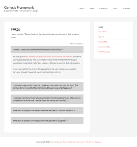 FAQ section in Genesis using ACF Pro's Repeater Field and jQuery Collapse