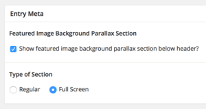 Using ACF to show Standard or Full Screen Featured Image Background Parallax section in Altitude Pro
