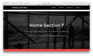How to add additional parallax section in Parallax Pro