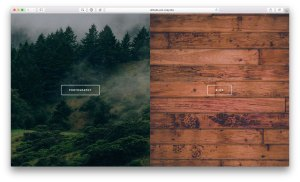Side by side images with centered widget areas in Altitude Pro's front page