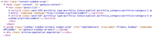 How to wrap posts list in a container and reposition archive pagination on archives in Genesis
