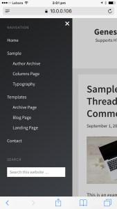 Off-canvas side menu in Genesis using Slideout.js