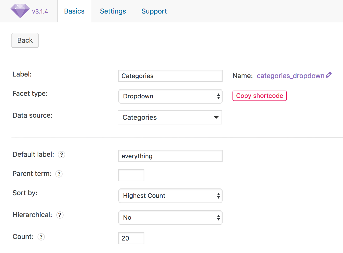 Category switcher without page refresh using FacetWP and