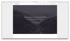Responsive Front Page 1 image in Atmosphere Pro