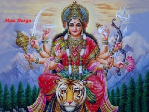 Śrī Durgā on Vyaghrāsana