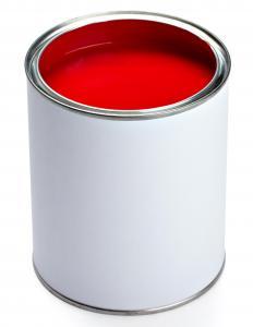 Single Red Interlocking Tiles Paint - Single Red Interlocking floor Tiles Paint
