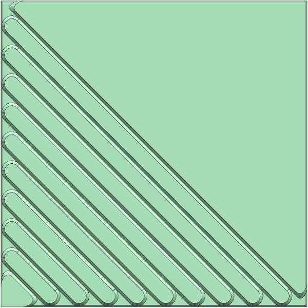 Half Strips Concrete Floor Tiles Rubber Mould 250X250X25mm
