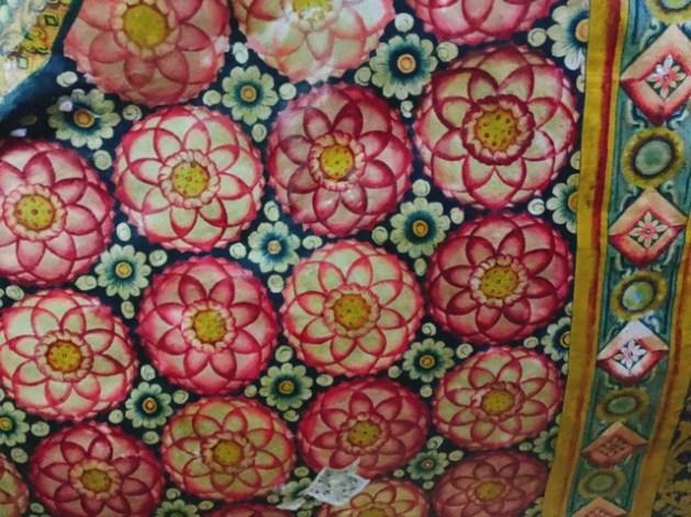 Sri Lanka Jasmine Tours & Drivers スリランカジャスミンツアーズ撮影。 マルキリガラ寺院 マルキリガラ遺跡 ムルキリガラ の天井壁画2