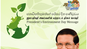 """President's """"World Environment Day"""" Message"""