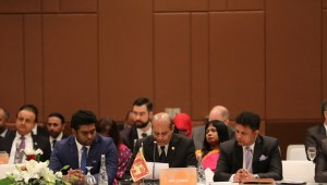 FOREIGN MINISTER TILAK MARAPANA REITERATES SRI LANKA'S COMMITMENT FOR A COMPREHENSIVE REGIONAL APPROACH TO COMBATING PEOPLE SMUGGLING