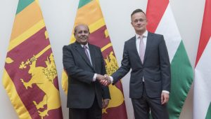 FOREIGN MINISTER MARAPANA AND HUNGARIAN COUNTERPART PÉTER SZIJJÁRTÓ DISCUSS ROADMAP FOR VIABLE, RESULTS ORIENTED AND MUTUALLY BENEFICIAL SRI LANKA –HUNGARY BILATERAL PARTNERSHIP AS TWO COUNTRIES CELEBRATE SIXTY YEARS OF DIPLOMATIC RELATIONS THIS YEAR