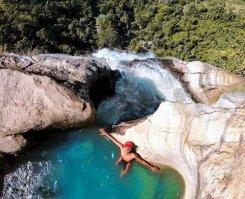 Diyaluma waterfall in ella sri lanka