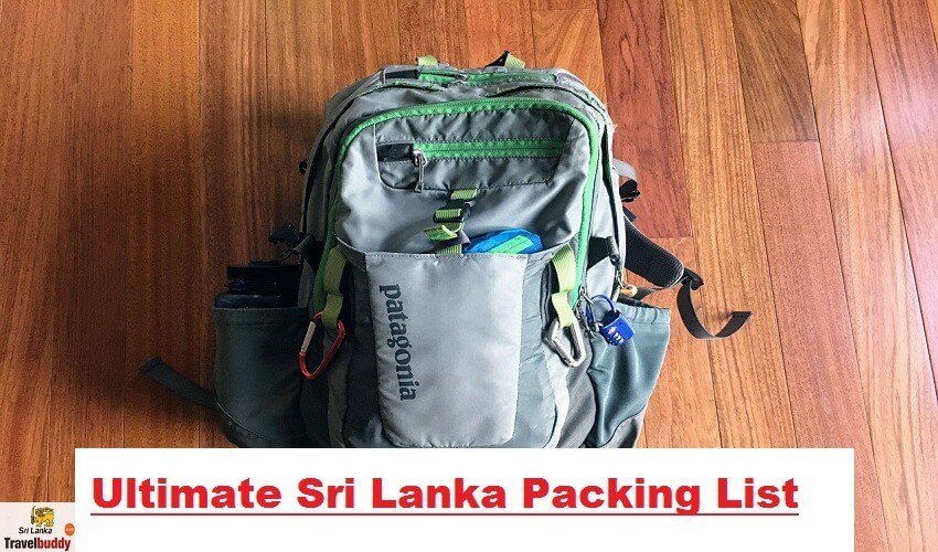 sri lanka packing list