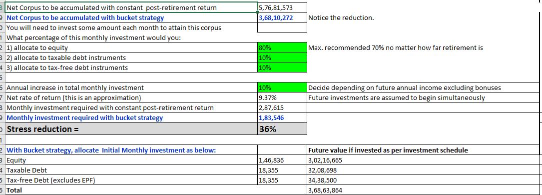 Calculation output