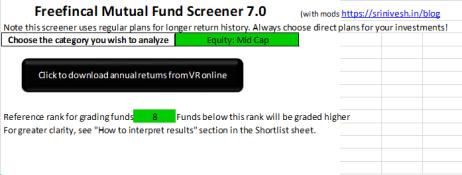 Fund Screener - Initial Inputs