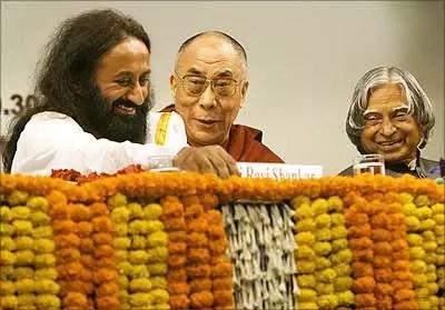 Sri Sri Ravi Shankar Dalai Lama APJ Abdul Kalam