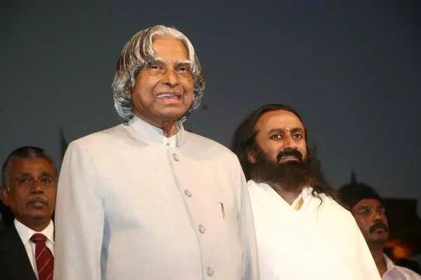 Sri Sri with Abdul Kalam at Silver Jubilee 2006