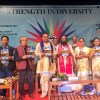 Sri-Sri-Ravi-Shankar-Strength-in-Diversity-North-East-conference-stage-standing