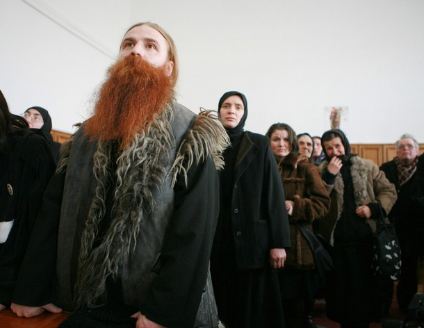 Daniel Petru Corogeanu (C), 31, a monk w