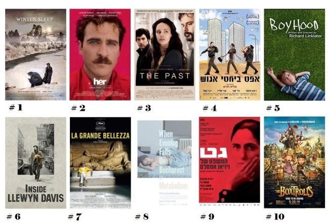 עשרת הסרטים המופצים 2014 של עופר